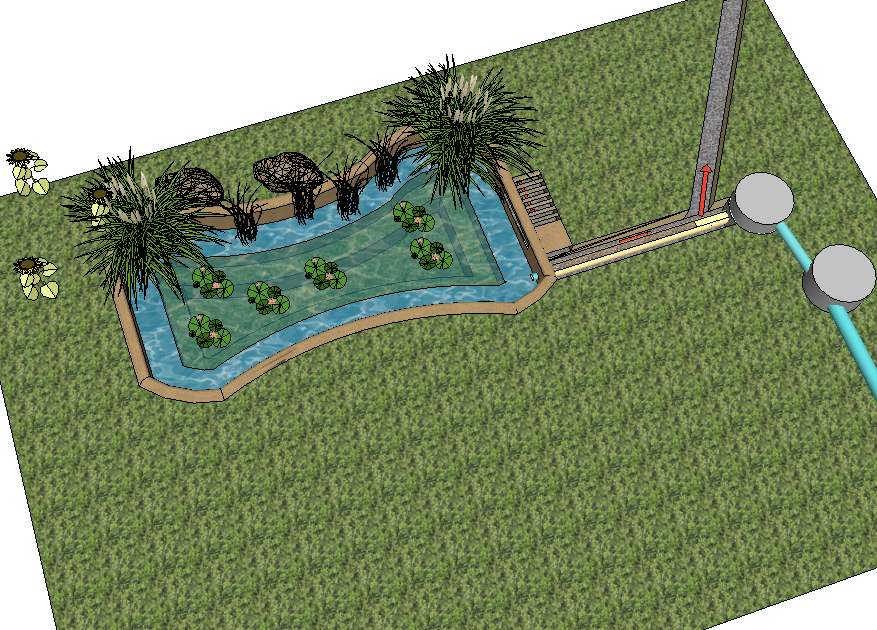 Single household wastewater treatment system wetlands work for Design of wastewater stabilization ponds